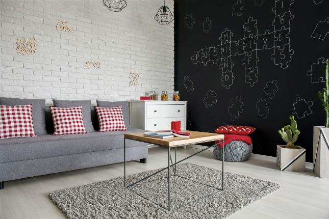 3-room HDB interior design - Living Room