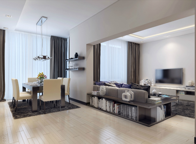 Dining Room Design - Dining-cum-Living Room