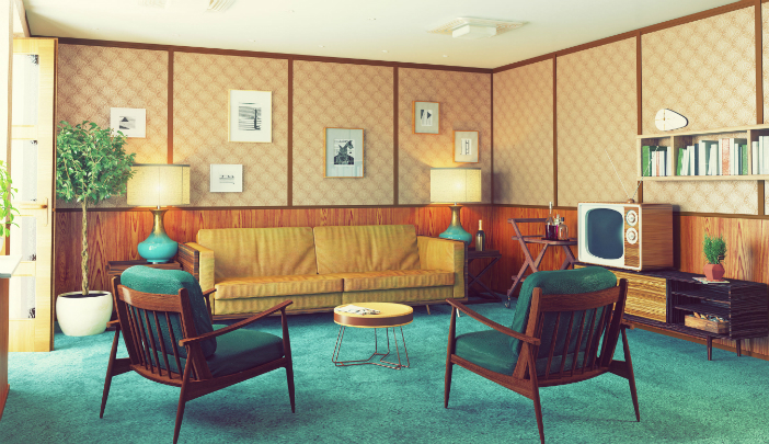 Retro Interior Design - Living Room