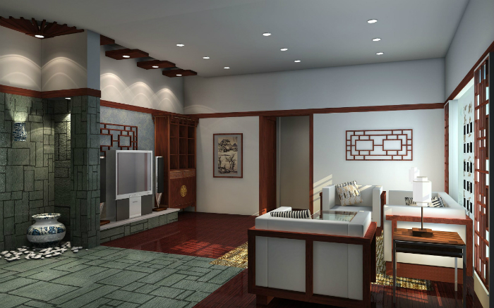 Oriental interior design - Living Room