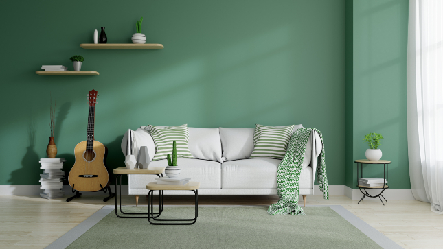 Living Room Design - Accent Wall Colour
